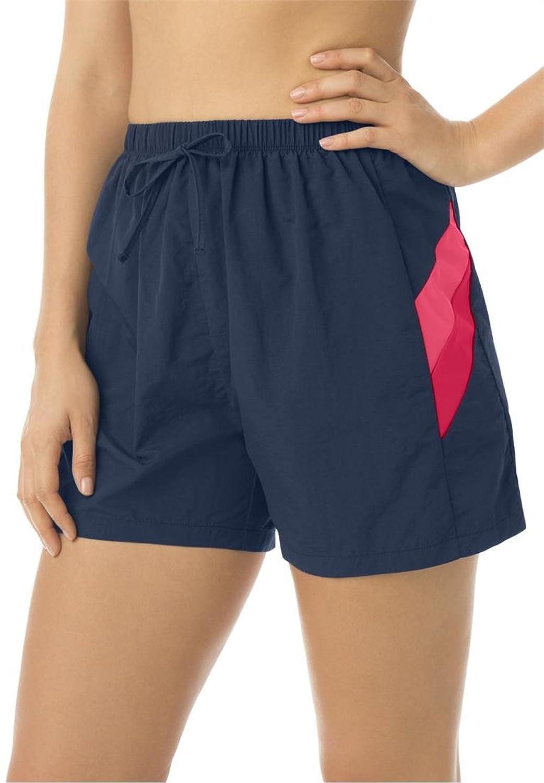 ouxiuli Men Summer Sport Shorts Drawstring Jogger Casual Short Pants
