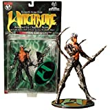 Top Cow Year 1998 Moore Action Collectibles Witchblade Series 6 Inch Tall Action Figure - KENNETH IRONS with Sinister Staff of Power and Display Stand by Witchblade