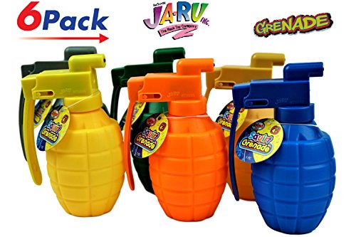 JA-RU Water Squirt Grenade (Pack of 6) Kids Toys Super Soaker Water Splash Gun | Item #868-6