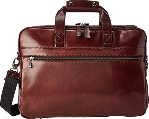 Bosca Men's Stringer Bag, Dark Brown