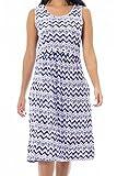 Bearsland Womens Sleeveless Maternity Dress Empire Waist Nursing Breastfeeding Dress Summer,bluepurplewave, X-L