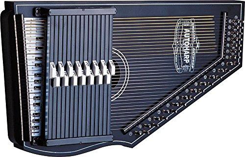[해외]오스카 슈미트 OS73B 1930 재발행 15 코드 오토 하프 번들, 폴리싱 천 - 블랙/Oscar Schmidt OS73B 1930`s Reissue 15 Chord Autoharp Bundle with Polish