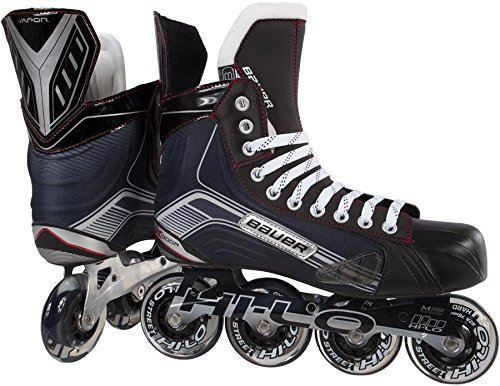 Bauer 1047269 Junior Vapor X300R Roller Hockey Skate, Black, Size 2