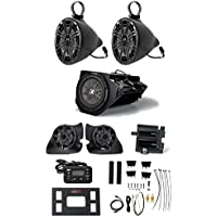 KICKER PHASE 3 Polaris RZR (4) Speakers+Subwoofer+(2) Amps+Receiver+Wire Kits