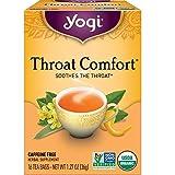 Yogi Tea - Throat Comfort (6 Pack) - Soothes the Throat - 96 Tea Bags Total