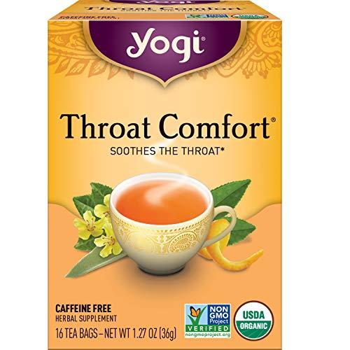 Yogi Tea - Throat Comfort - Soothes the Throat - 6 Pack, 96 Tea Bags Total