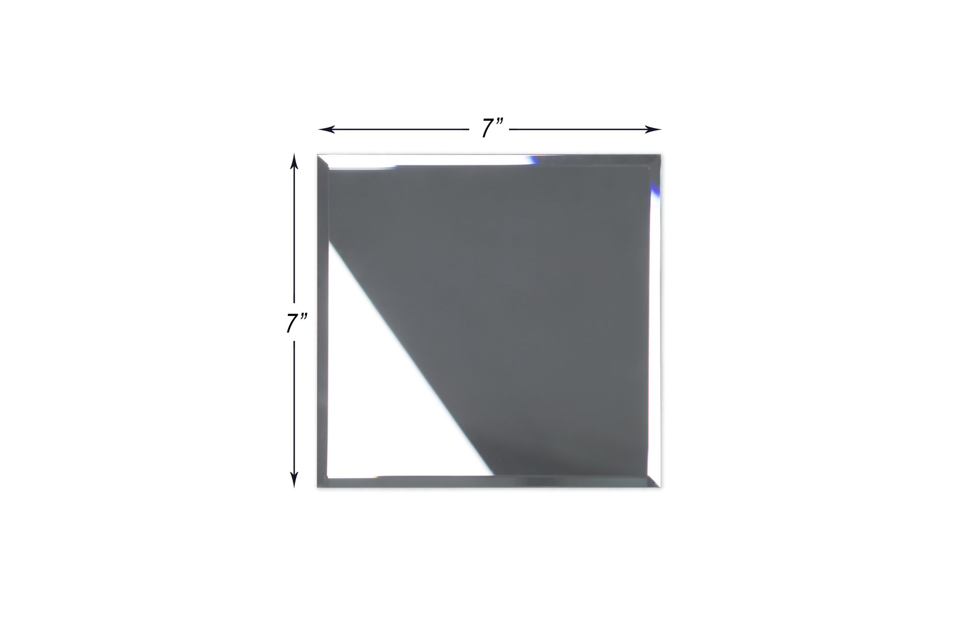 7'' x 7'' Beveled Silver Mirror Glass Tile 40 Pieces Per Box (12sq/ft)
