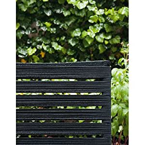 Rest Stacking Chair [Set of 4] Seat Colour: Beige Straps, Frame Finish: Aluminium Black Lacquer