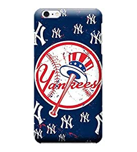 2015 CustomizedNewest Phone Protective Covers,MLB-New York Yankees Skin Slim Case Covers Compatible For iphone 6 plus(5.5)