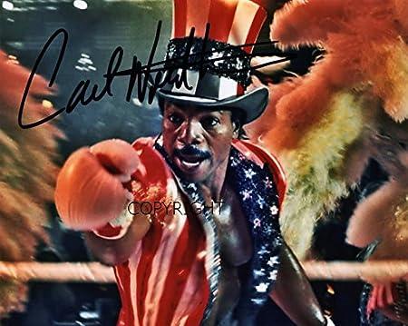 Carl Weathers Rocky fotografia firmato edizione limitata stampato Autograph