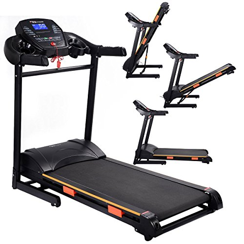 Goplus 1000W Folding Treadmill Electric Motorized Power Running Jogging Machine