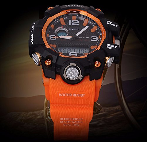 Amazon.com: Relojes de Hombre Sport LED Digital Military Water Resistant Watch Digital Men RE0062: Watches