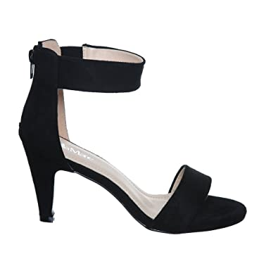 Amazon.com | Low Heel Ankle Strap Sandals | Heeled Sandals