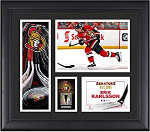 "Erik Karlsson Ottawa Senators Framed 15"" x 17"" Player Collage with a Piece of Game-Used Puck - Fanatics Authentic Certified"