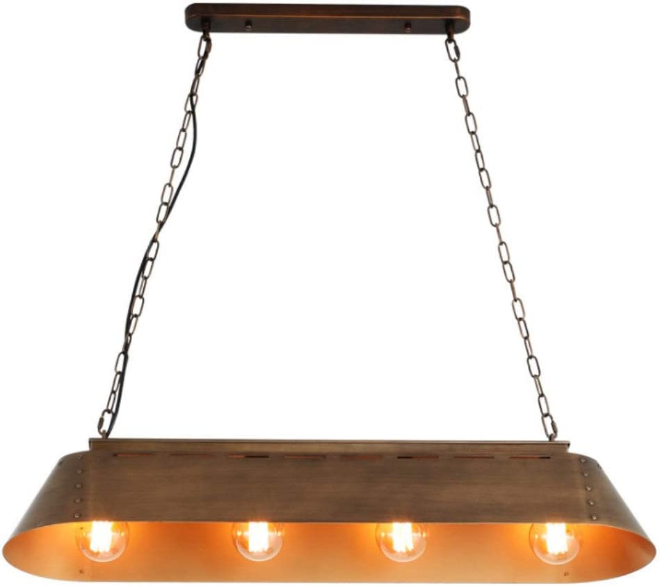 OCCMFZD Lámpara De La Vendimia Retro Cocina Industrial Lámpara De Tabla Luz De Techo De Altura Ajustable Lámpara Antigua Decoración E27 * 4 Bombilla: Amazon.es: Hogar