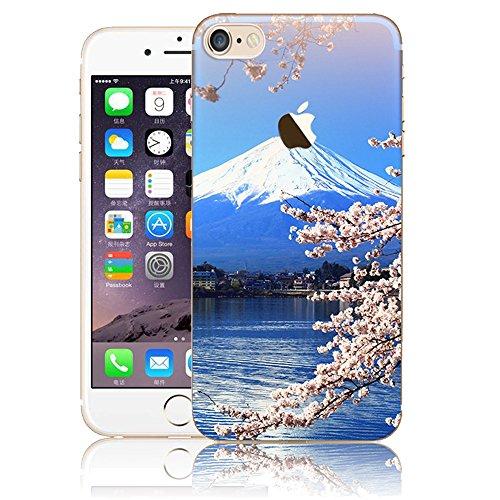 Funda para iPhone 7 8, Vandot TPU Silicona Pintado Funda para iPhone 7 8 Patrones de Pintura Case Suave Flexible Silicone Gel Paisaje Cajas de Teléfono móvil para iPhone 7 / iPhone 8 4.7 - Volcán y E Scenery 17