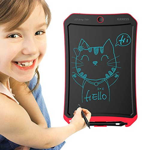 IGERESS Newest 8.5-inch LCD Writing Tablet with Cool Robot Element Design Electronic Writing Board for Kids and Adults Happy Drawing and Working Saving Papers by IGERESS (Image #1)