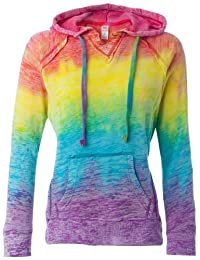 Yoga Clothing For You Ladies Burnout V Hoodie Sweatshirt