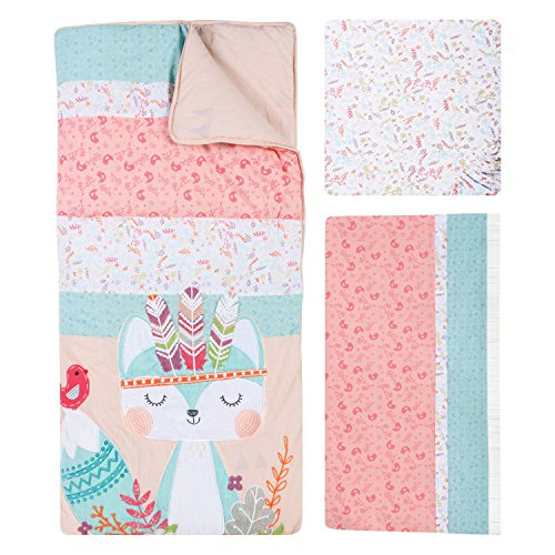 Trend Lab Wild Forever 3 Piece Crib Bedding Set, Pink/Teal
