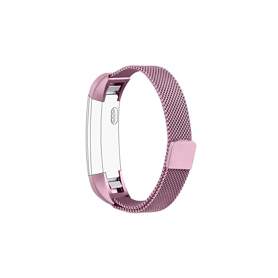 AK For Fitbit Alta HR Bands Milanese Stainless Steel Small Large Magnetic Closure, Adjustable Alta HR/Alta Accessories Metal Bands Straps for Fitbit Alta HR 2017/Fitbit Alta 2016