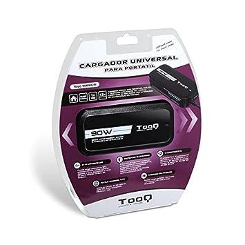 TooQ TQLC-90BS02M - Cargador adaptador universal de 90 W para ordenador portatil, Salida
