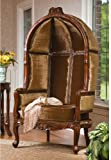 Hand-carved Hardwood Antique Replica Victorian Balloon Chair Seat