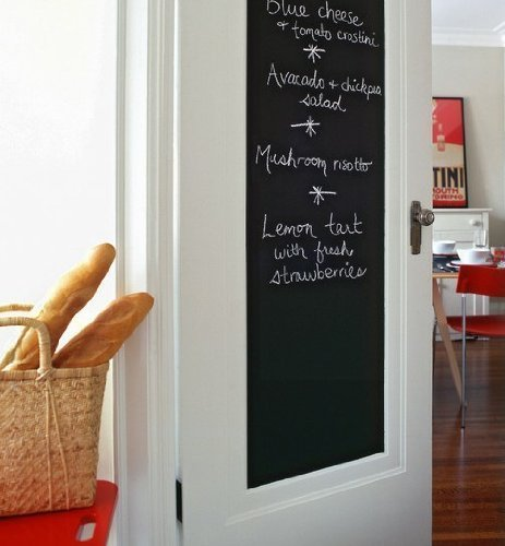 Amazon Fancy-fix Blackboard Vinyl Peel and Stick Self Adhesive Chalkboard Wall Sticker with 5 Chalks- Big Roll 17.7 By 78.7 Inches Home & Kitchen