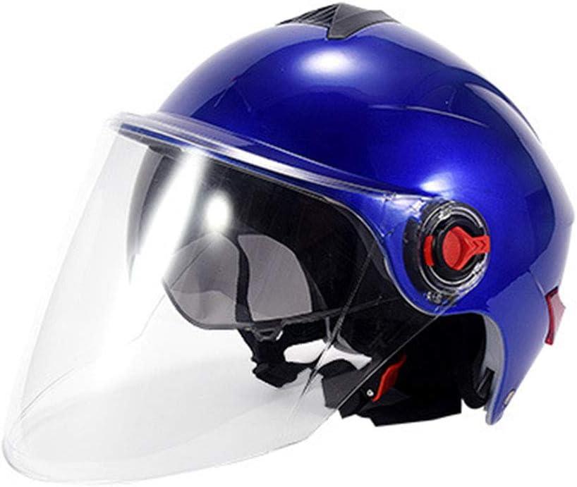 AWEISBS Casco de Coche el/éctrico BYB Adecuado para Actividades de Ciclismo al Aire Libre Casco de Doble Lente con Protector Solar de Verano Unisex