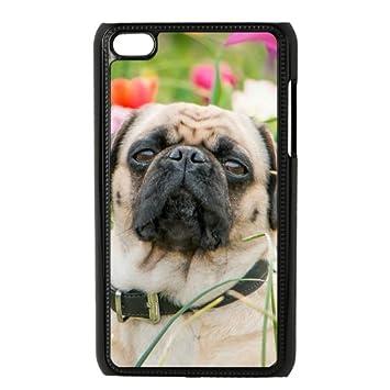 Mi caso DIY iPod Touch 4 generación funda Pug carcasa ...