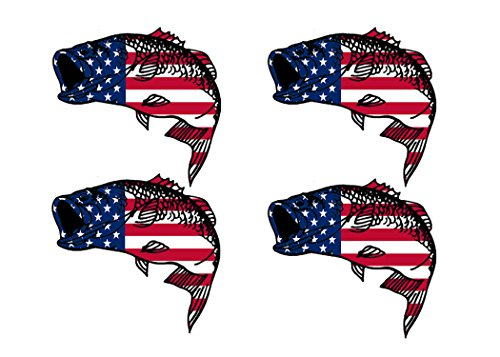 - Rogue River Tactical 4X Bass Fish USA Flag Sticker Decal Fishing Bumper Sticker Fish Patriotic United Auto Decal Car Truck Boat RV Real Life Rod Tackle Box