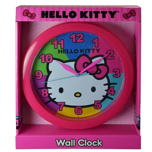 "Hello Kitty Clock 10"" Wall Clock: Wall Clock Quartz Accuracy, Easy Wall Mounting. Battery Operated Requires 1 Aa Battery (Not Included)"