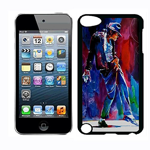 Michael Superstar Jackson Case for iPod Touch 5th iPod Touch 6th,PC Material Hard Case Never Fade (Michael Jackson Ipod Case)