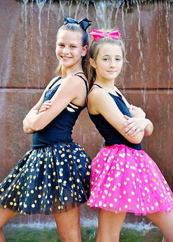 The Hair Bow Company Girl & Teen Gold Polka Dot Tulle Tutu Skirt 13 for 8-16 Years - Many Colors