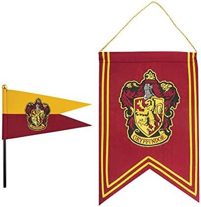Cinereplicas Harry Potter - Juego de Banderas y Banderín - 30 x 43 cm - Oficial (Gryffindor): Amazon.es: Hogar