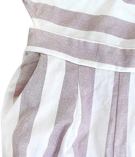 FANCYINN Jumpsuit Damen Sommer Streifen Weites Bein Overall Damen Elegant /Ärmelloses Playsuit Casual Abend Party Romper