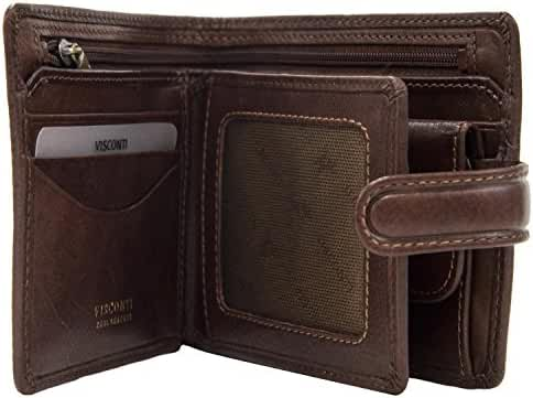 Visconti Tuscany 42 Secure RFID Blocking Genuine Leather Wallet