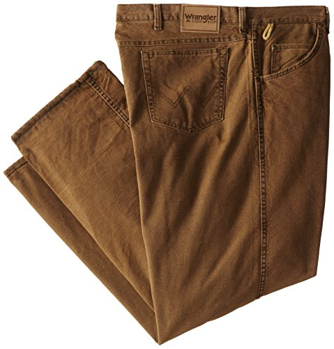 Wrangler Men's Big-Tall Rugged Wear Woodland Thermal Black Jean, Night Brown, 48x30 ()