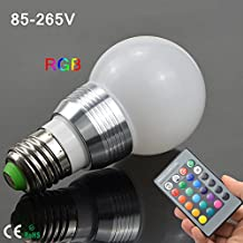 Zehui Retro LED Color Changing Light Bulb with Remote Control Flash or Strobe Mode Energy Saving Lamps