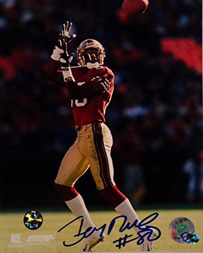 Jerry Rice Autographed 8 x 10 Photo Authentic (Jerry Rice 8x10 Photograph Autographed)