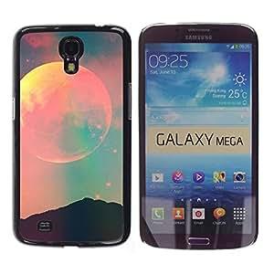 Espacio Luna Cielo trullo Rosa Naturaleza Noche - Metal de aluminio y de plástico duro Caja del teléfono - Negro - Samsung Galaxy Mega 6.3