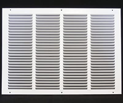 """20""""w X 14""""h Steel Return Air Grilles - Sidewall and Cieling - HVAC DUCT COVER - White [Outer Dimensions: 21.75""""w X 15.75""""h]"""