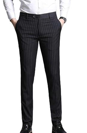 Hongfei-uk - Pantalón de Traje - para Hombre Negro Negro (30 ...