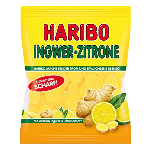 Haribo Ginger-Lemon Gummi Candy 175g/6.17oz