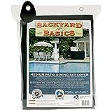 MR BAR B Q Backyard Basics 96-Inch Medium Patio Dining Set Cover( LX65-Inch WX30-Inch H 244cmX165cmX76cm), Black