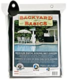 Cheap Backyard Basics 96-Inch Medium Patio Dining Set Cover( LX65in WX30in H 244cmX165cmX76cm) Black
