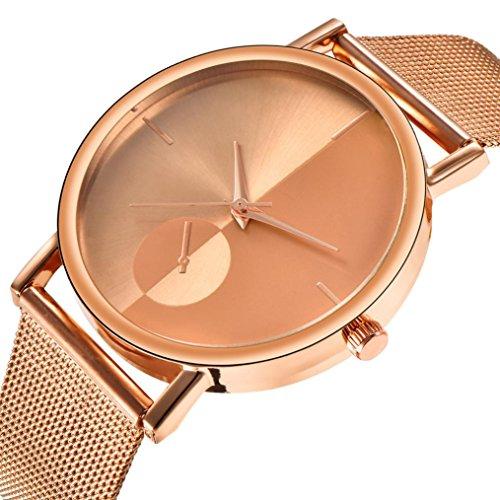 Lover Watch Gold (EnjoCho Women's Watch, Fashion Classic Quartz Alloy Band Stainless Steel Wrist Watch For Women Girls (Gold))