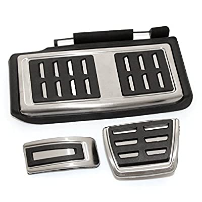 9 Moon Stainless Steel Car Foot Fuel Brake Rest Clutch AT Pedals Plate Cover VW GOLF 7 GTi MK7 LHD: Automotive