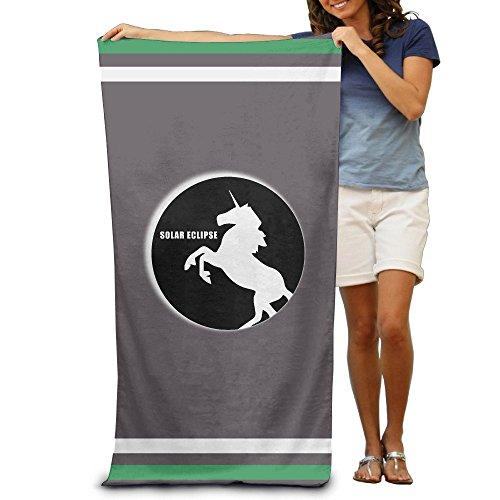 steamship n Uni-corn Total Solar Eclipse Bath Towels Beach Towels Swim Towels Adults Soft Absorbent 31 x 51 Inch by steamship n