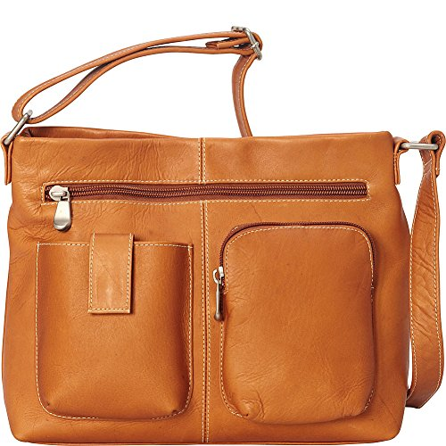 le-donne-leather-two-pocket-crossbody-tan
