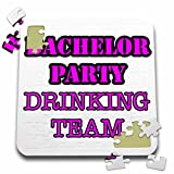 Stag,Bachelor Party - Bachelor Party Drinking Team Pink - 10x10 Inch Puzzle (pzl_261063_2)